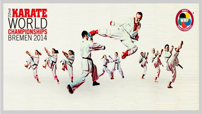 22nd World Senior Karate Championships. Bremen, Germany. 2014