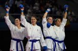FRANCE retain the Female Team Kumite title