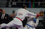 JONATHAN HORNE (GERMANY) during the final of Male Kumite +84kg against SAJAD GANJZADEH (IRAN)