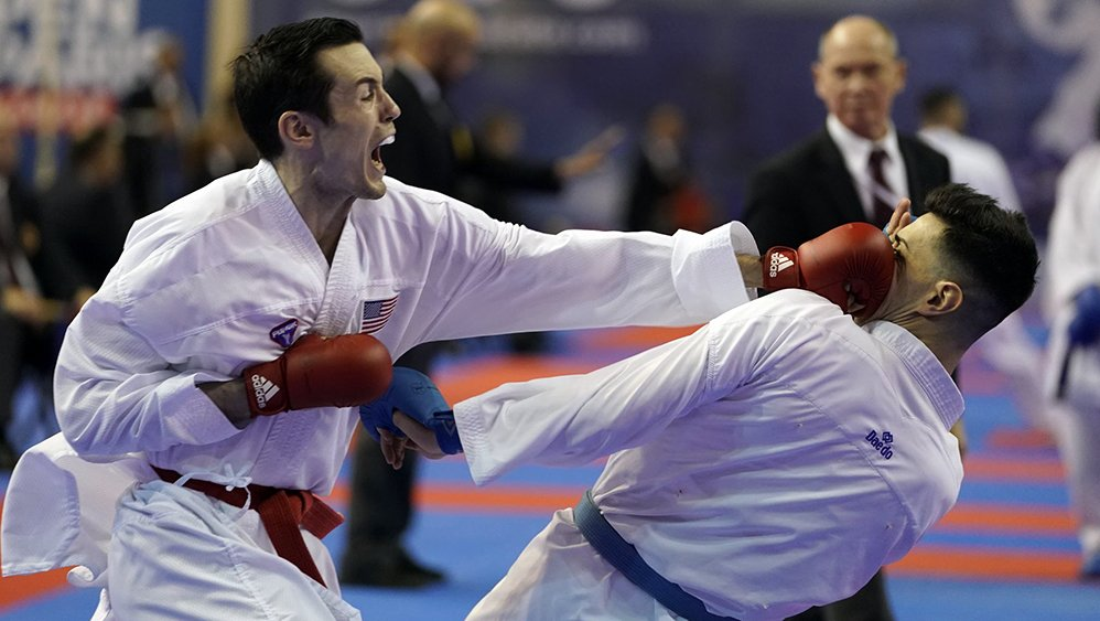 Antonio Diaz and USA?s karatekas dominate day 1 of PKF Karate Championships
