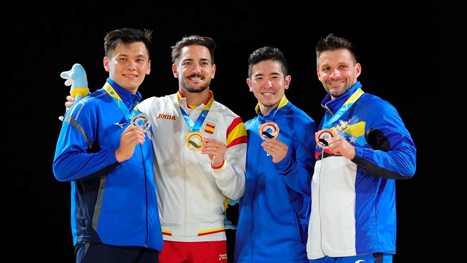 Damian Quintero completes dream day for Spain with Male Kata gold at ANOC World Beach Games