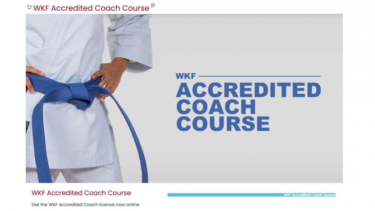 WKF launches online accredited coach course