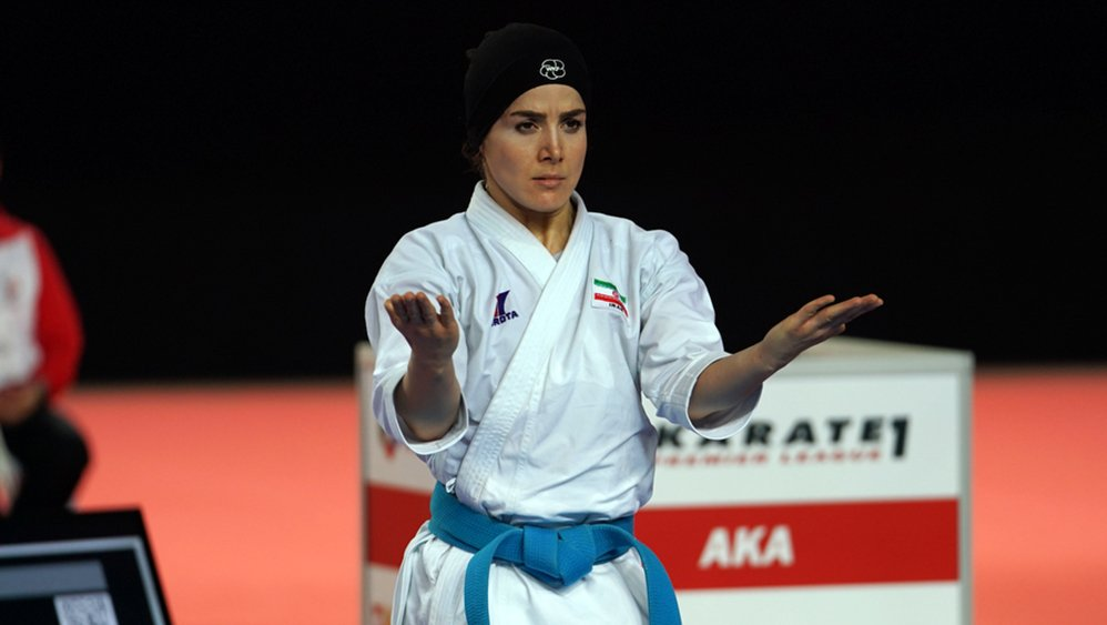 Meet Negin Baghery Bazardeh, Iran leading female Kata karateka