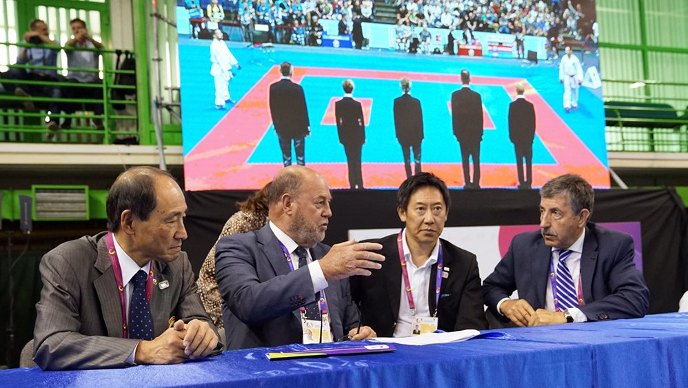 Top sports authorities visit Karate competition at The World Games